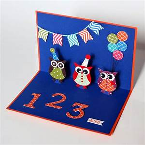 Carte Anniversaire Pour Enfant : djudi 39 scrap carte d 39 anniversaire pop up pour enfants ~ Melissatoandfro.com Idées de Décoration