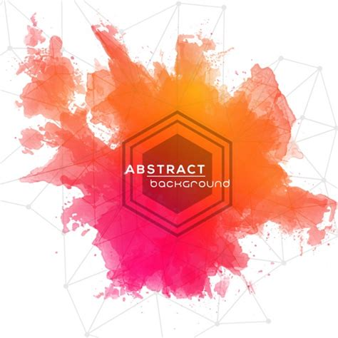 Abstract Shapes Watercolor watercolor abstract background with geometric shapes