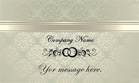 vintage pattern event planner business card design