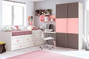 Chambre Ado Fille : chambre fille rose avec une armoire coulissante glicerio so nuit ~ Teatrodelosmanantiales.com Idées de Décoration