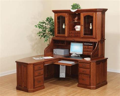 solid wood small corner desk corner desk small oak computer desk in brown varnished