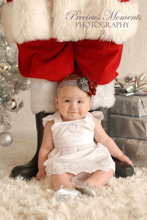babys st christmas photo session idea santa prop