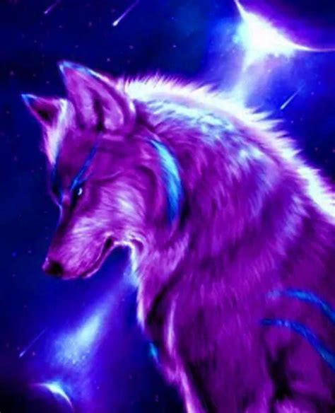 Blue And Purple Wolf Wallpaper purple blue wolf wolves in 2019 lobo fantas 237 a