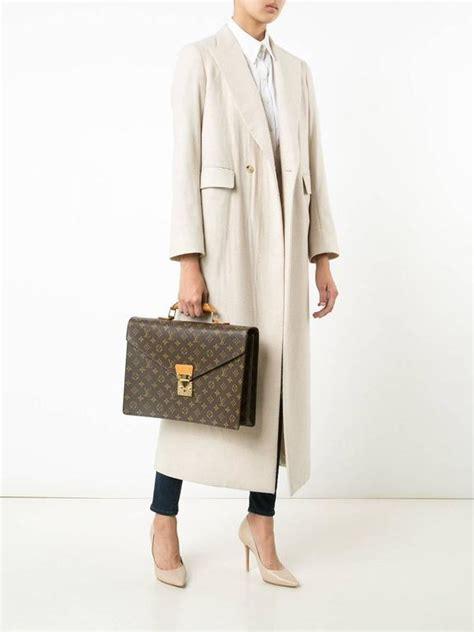 louis vuitton vintage rare monogram canvas mens briefcase laptop business bag  stdibs