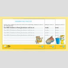 Free!  * New * Ks2 Bbc Children In Need Continuous Cursive Handwriting