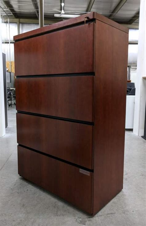 Solid Wood Lateral File Cabinet by Solid Wood Cherry 4 Drawer Lateral Filing Cabinets 36