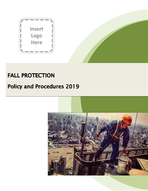 fall protection plan policy  procedure template  ohs