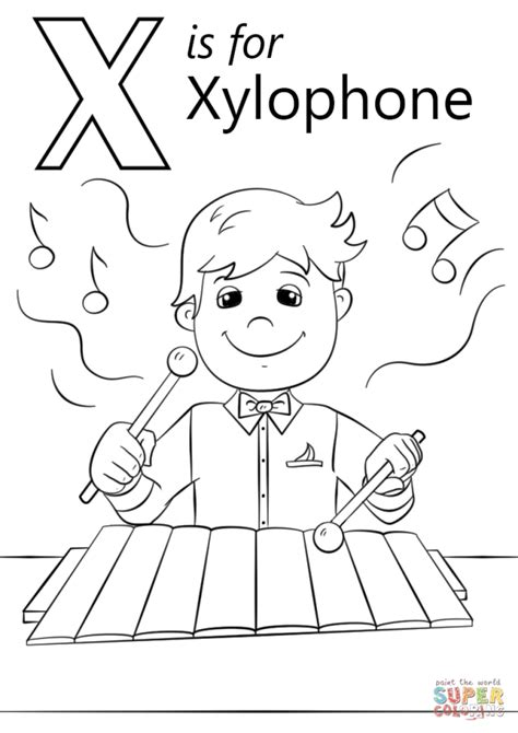 Coloring X Tree by Get This Letter X Coloring Pages Xh4m1