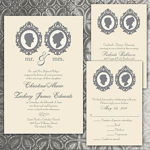 custom silhouette wedding invitations by puttinontheglitz4u With personalised wedding invitations etsy