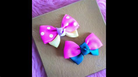 diy    ribbon bow hair clip youtube