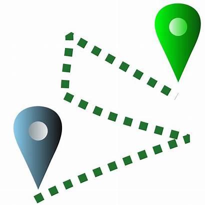 Location Destination Clipart Icons Vector Usps Ups