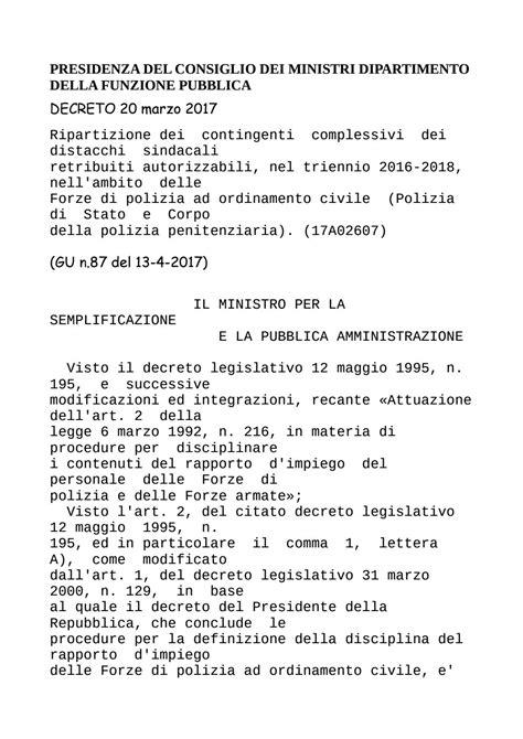 Presidenza Consiglio Dei Ministri Dipartimento Funzione Pubblica by Presidenza Consiglio Dei Ministri Dipartimento Della