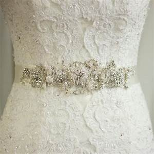 wedding sash lace belt rhinestone sash wedding dress belt With lace wedding dress with belt