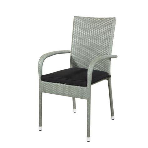 chaise en rotin gris chaise acier pvc rotin gris clair avec coussin achat