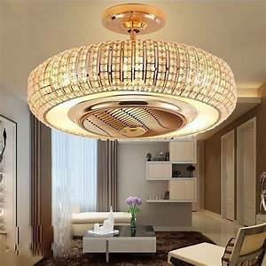 Ceiling Fans Light Crystal Alloy Fan 110 220v Negative