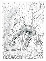 Mushroom Line Drawing Trippy Coloring Pages Printable Drawings Paintingvalley sketch template