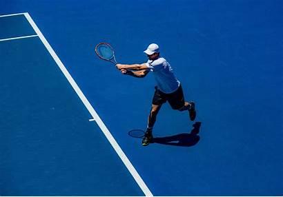 Tennis Player Court Racket Background