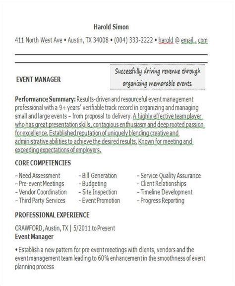 31 professional manager resume