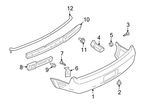 2005 Ford Mustang Part Diagram by 5r3z17d955a Ford Bumper Cover Reinforcement