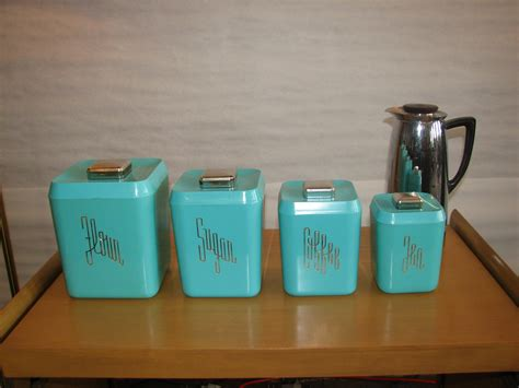 vintage kitchen canisters sets turquoise kitchen canister set gre stuffgre stuff