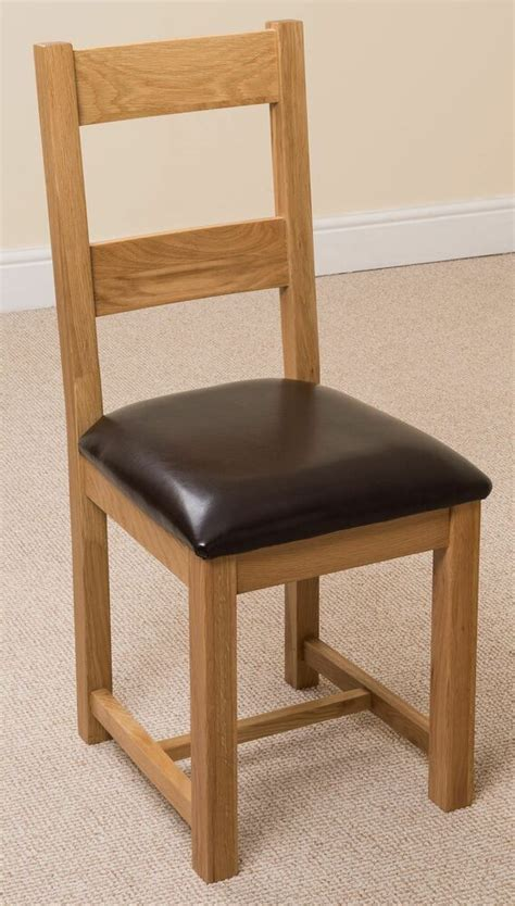 lincoln solid oak light wood tone brown bonded leather