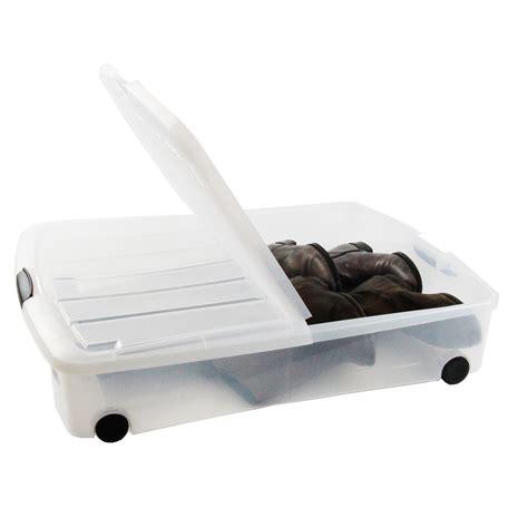 boite de rangement a roulettes sous lit table rabattable cuisine bac rangement sous lit