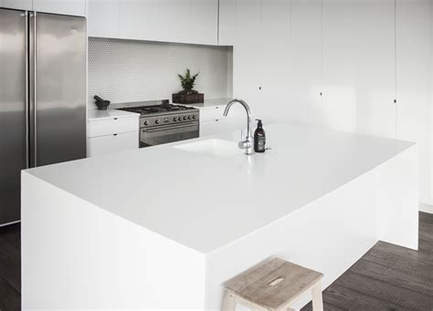 island ideas for small kitchens glacier white corian solid surface enhances family kitchen