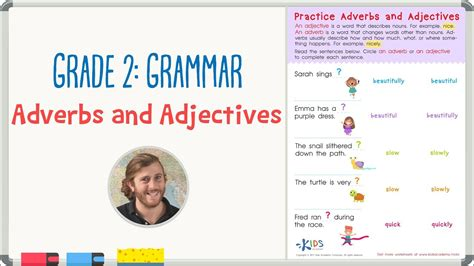 Grade 2 Grammar Practice  Adjectives And Adverbs Worksheet  Kids Academy Youtube