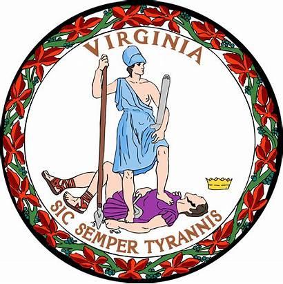 Virginia State Flag Seal Vectorified
