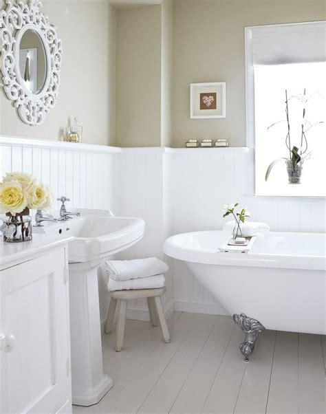 neutral country bathroom with roll top bath treat yourself
