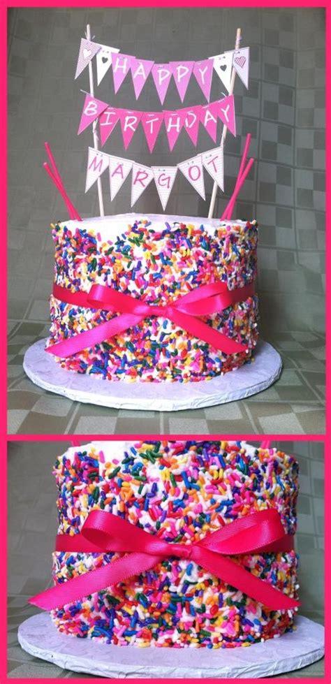 ideas  rainbow sprinkle cakes  pinterest