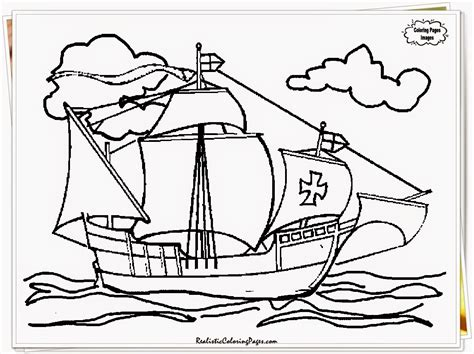 Christopher Columbus Coloring Pages Printable by Columbus Day Coloring Pages Printable Realistic Coloring