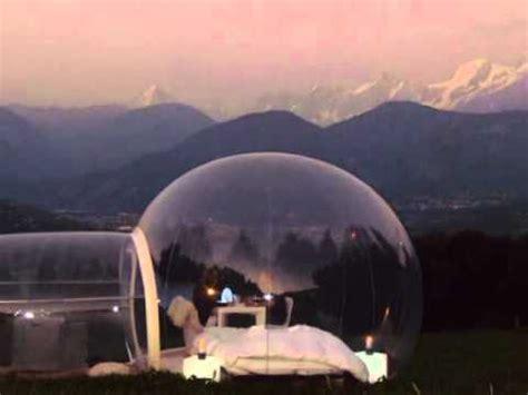 chambre bulle dans la nature nuit evasion mont blanc à la etoile