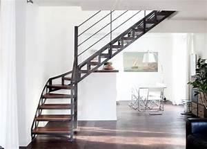 Escalier Fer Et Bois : escalier m tal et bois au style industriel photo dt100 ~ Dailycaller-alerts.com Idées de Décoration