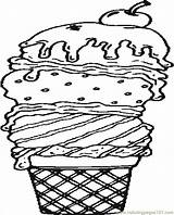 Coloring Ice Cream Pages Waffle Sundae Printable Icrem Template Seasons Colouring Sheets Coloringpages101 Popular Getcolorings Coloringhome sketch template