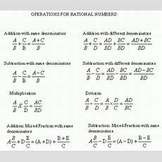 Operations Of Rational Numbers  Review  Grade 6  Mathematics  Kwiznet Mathscienceenglish
