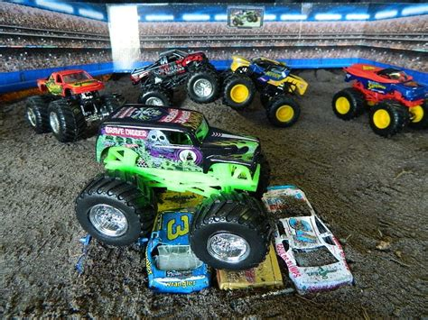monster jam toys trucks monster jam monster truck jumps toys youtube