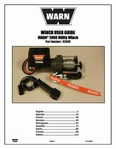 Warn 2000 Dc User Manual