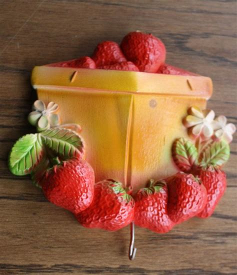 Strawberry Basket Wall Decoration Chalk Plaque With By