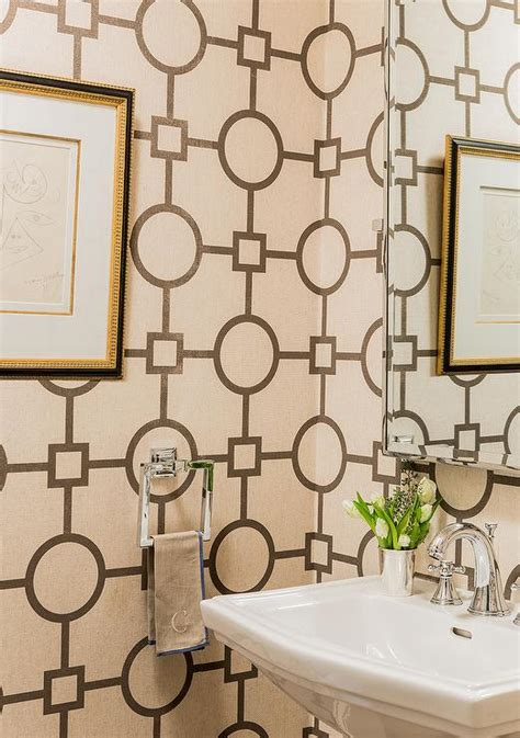 powder room  phillip jeffries union square wallpaper