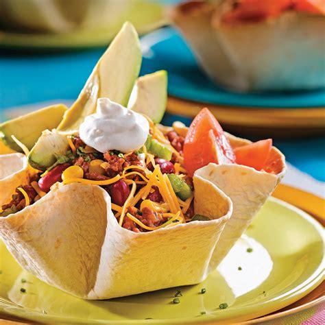 cuisine mexicaine tortillas salade mexicaine en fleurs de tortillas recettes cuisine et nutrition pratico pratique