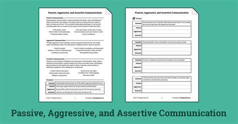 passive aggressive  assertive communication