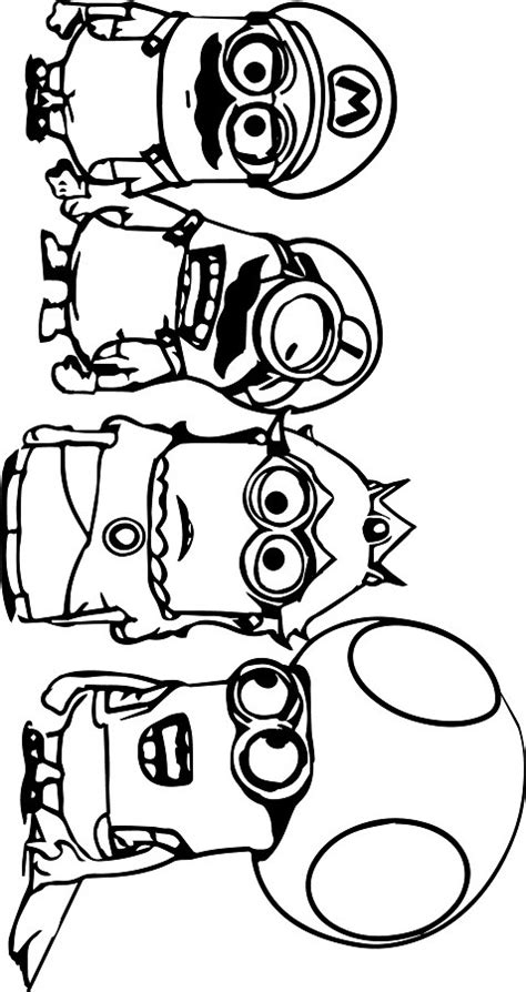 funny minions coloring page  printable coloring