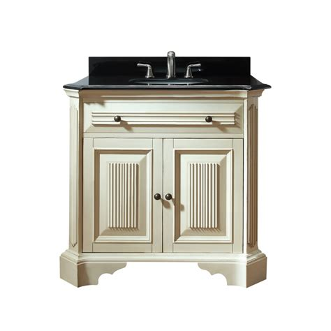Distressed Bathroom Vanity 36 by 36 Inch Single Sink Bathroom Vanity In Distressed White