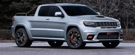 Jeep Grand Cherokee Trackhawk Pickup Rendered As The Truck