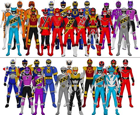 power colors all sentai and power rangers assorted colors by