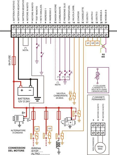 lada sensore movimento schema elettrico avviamento automatico gruppo elettrogeno