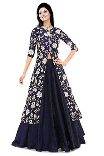 fashion trend blue cotton embroidered indo western