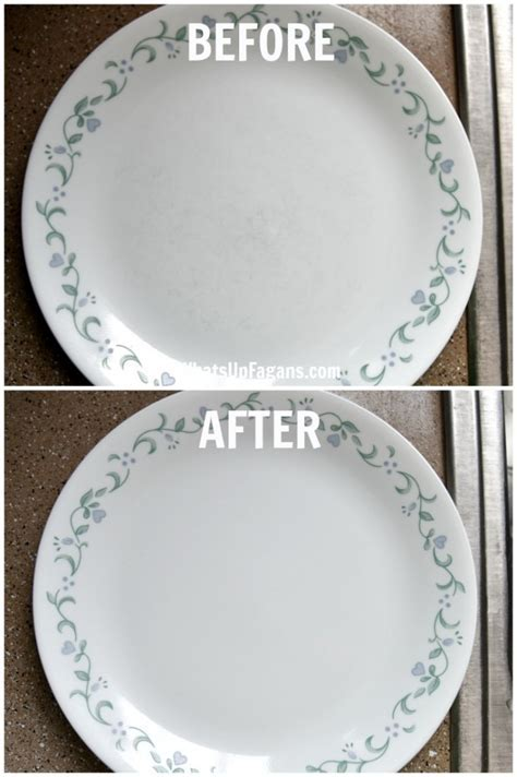 How to Remove Scratches from Dinnerware Tutorial