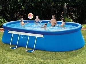 Pool 3 66 X 1 22 : intex 28194 oval quick up 610 x 366 x 122 cm easy set ~ Kayakingforconservation.com Haus und Dekorationen